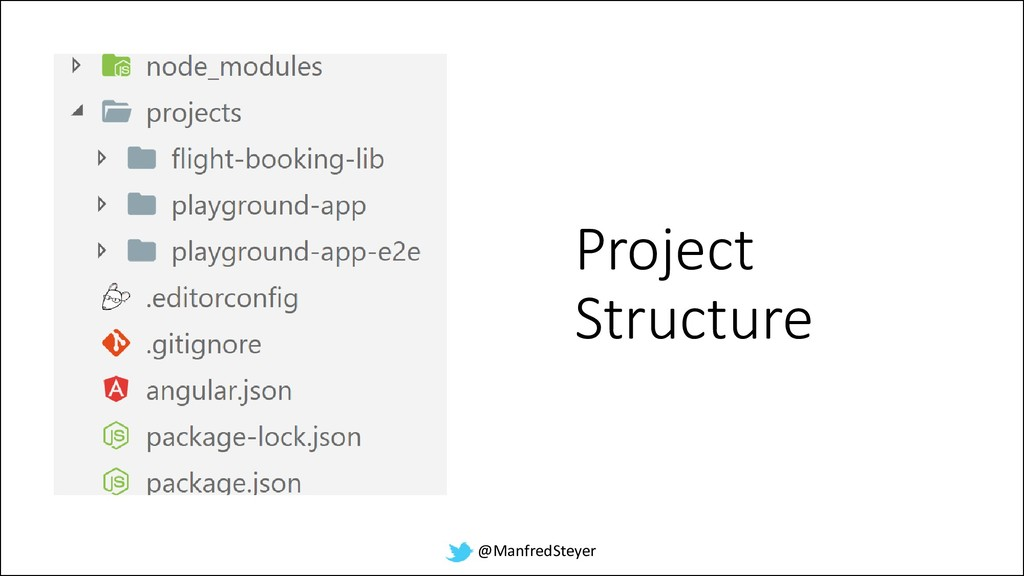 @ManfredSteyer Project Structure