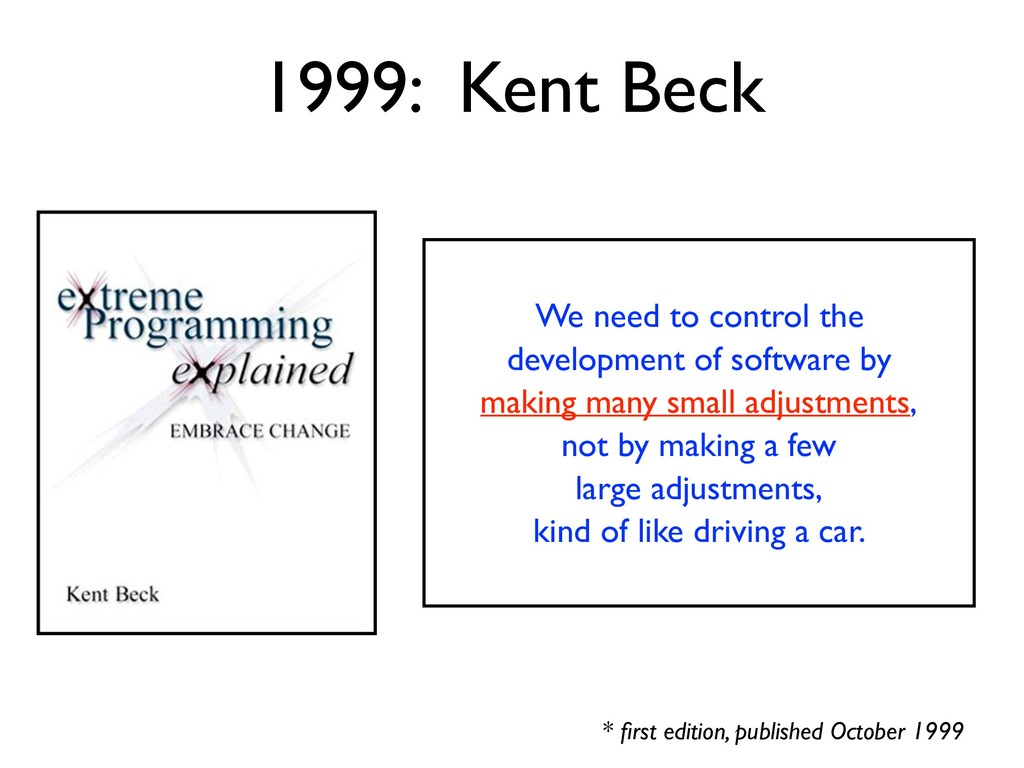 1999: Kent Beck * first edition, published Octob...