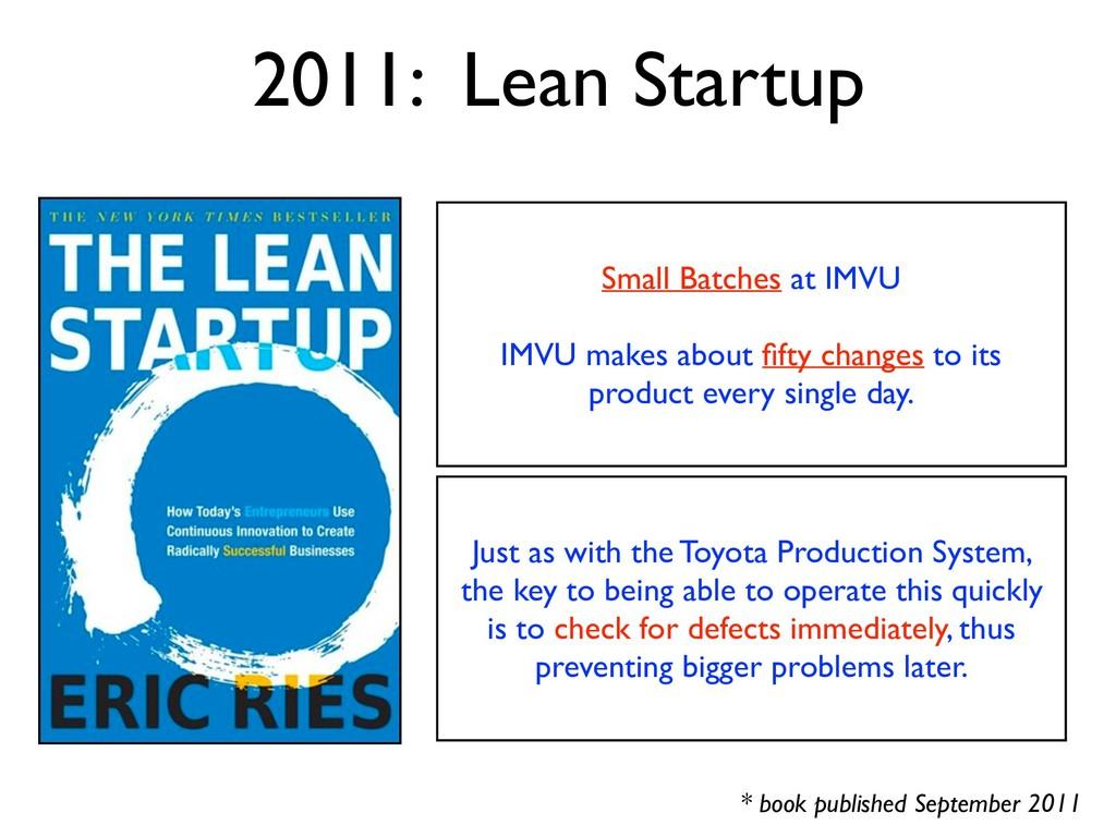 * book published September 2011 2011: Lean Star...