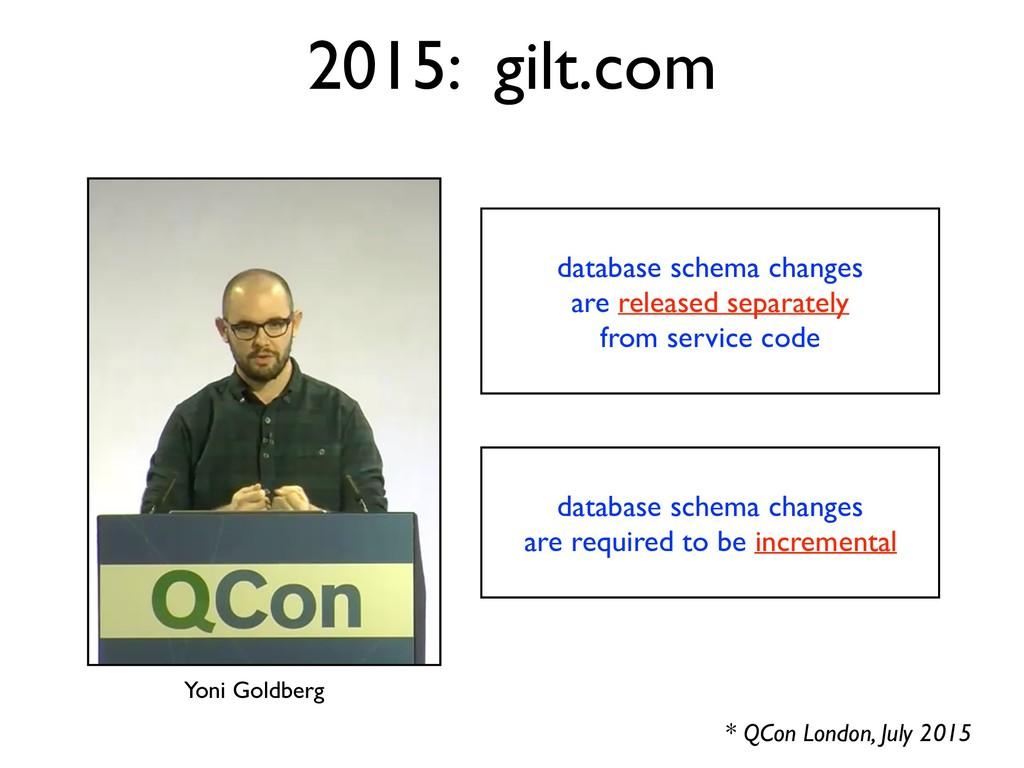 2015: gilt.com * QCon London, July 2015 databas...