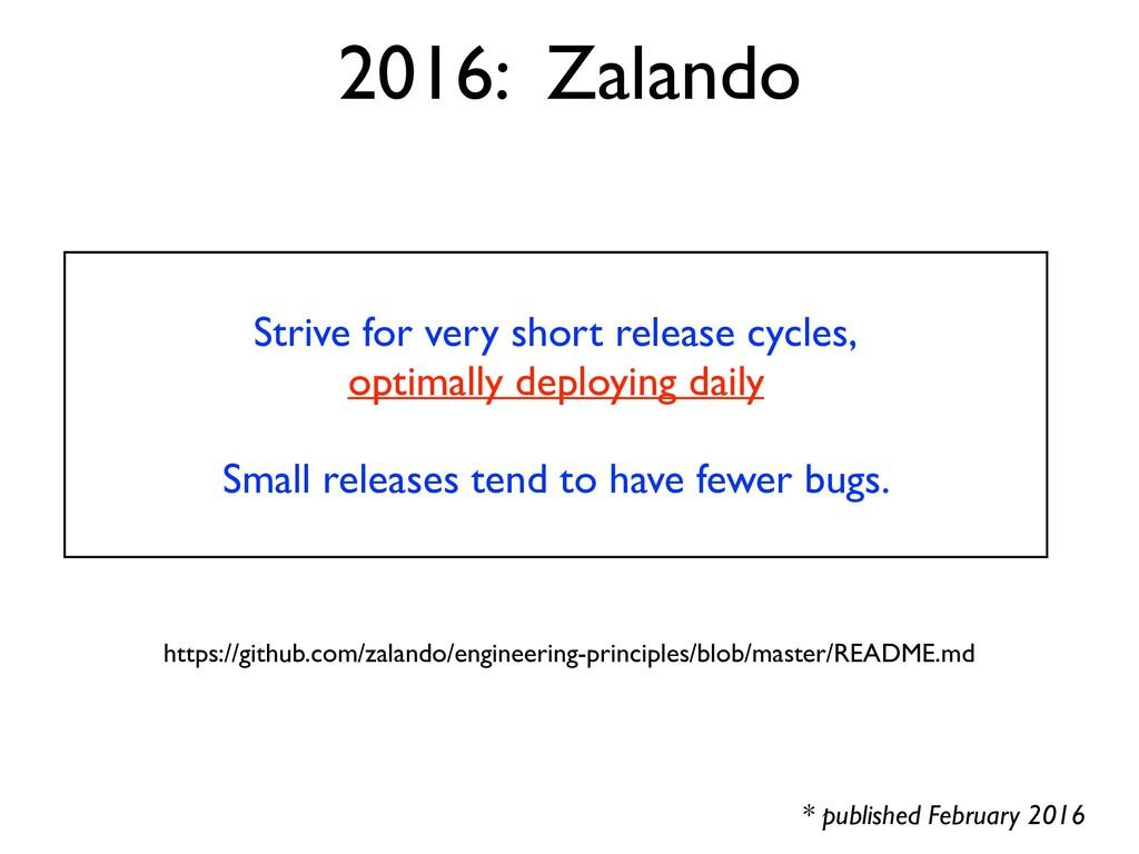2016: Zalando * published February 2016 Strive ...