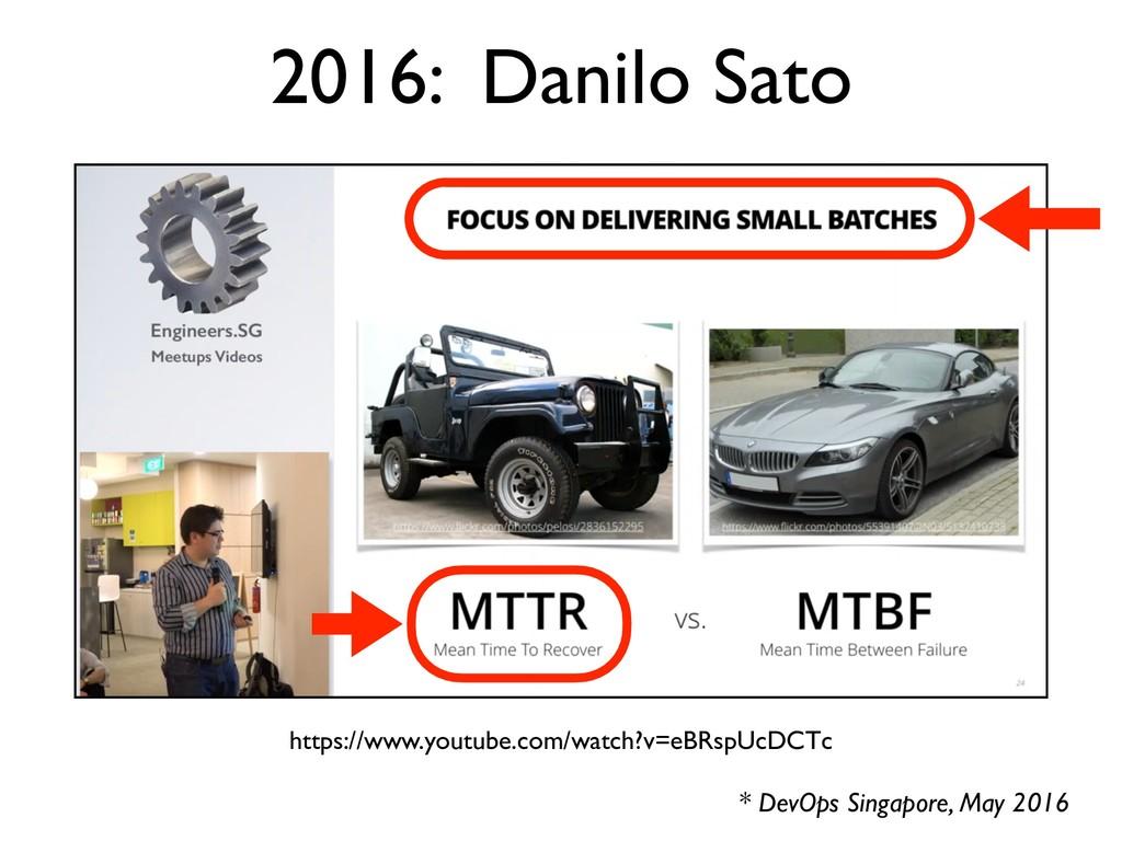 2016: Danilo Sato * DevOps Singapore, May 2016 ...