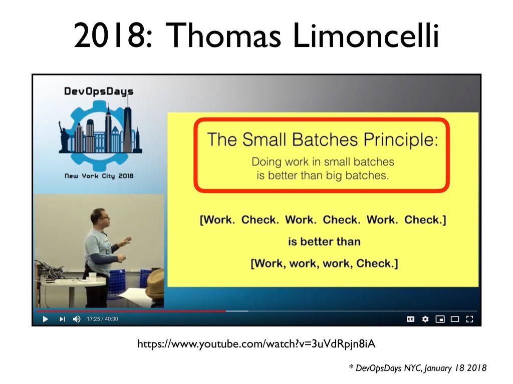 * DevOpsDays NYC, January 18 2018 2018: Thomas ...