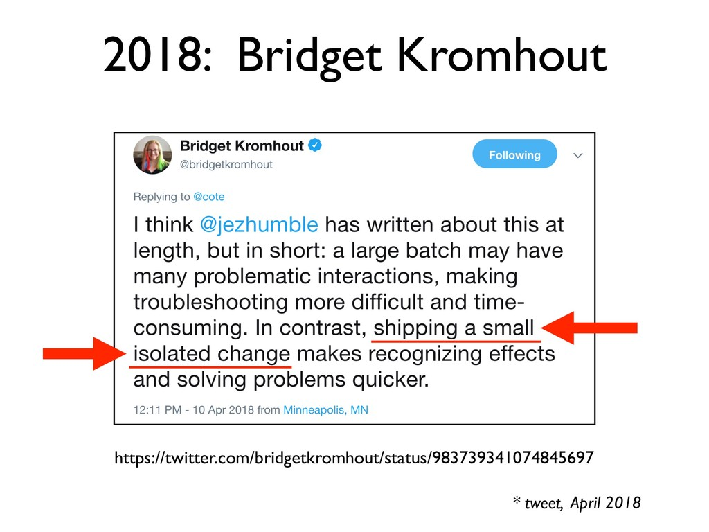 * tweet, April 2018 https://twitter.com/bridget...