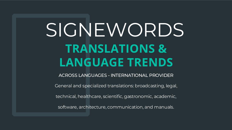 SIGNEWORDS Integrates Translations - Web conten...