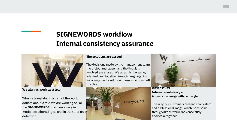 SIGNEWORDS workflow = Internal consistency assu...