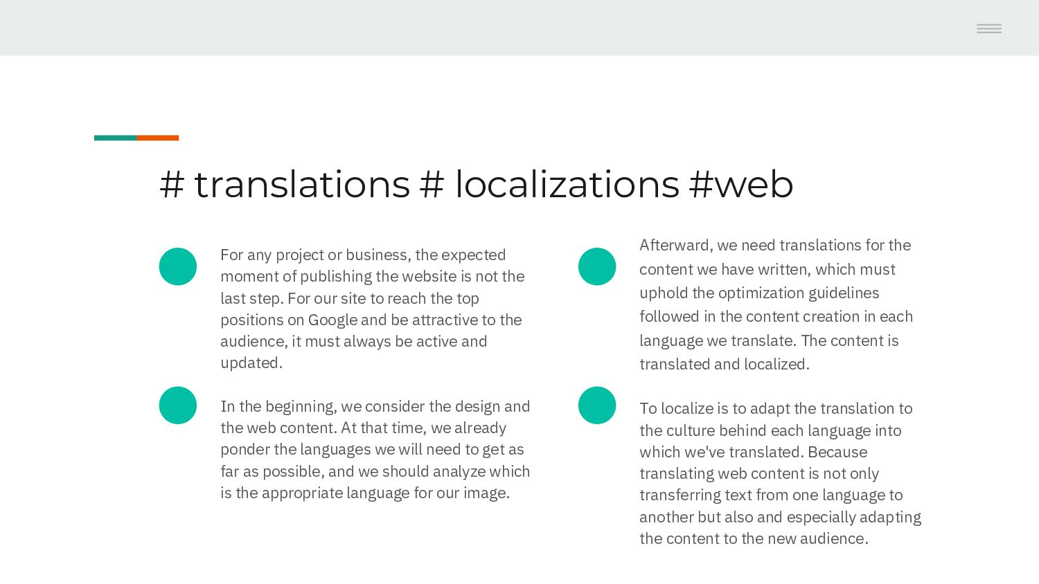 Content # translations Web # localizations 1 Fo...
