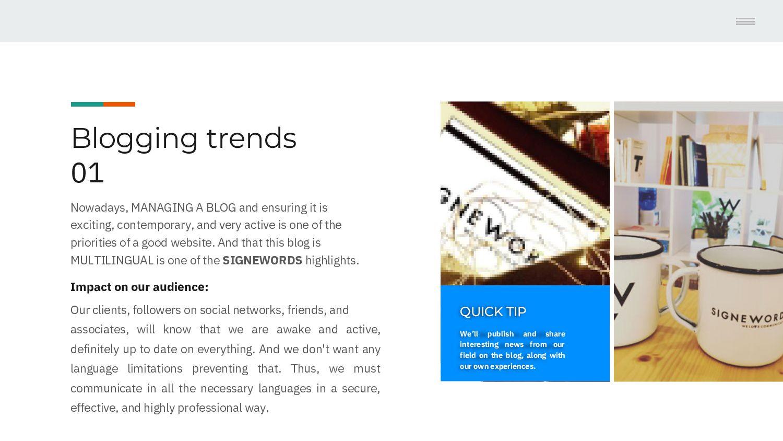 Blogging trends 01 Nowadays, MANAGING A BLOG, e...