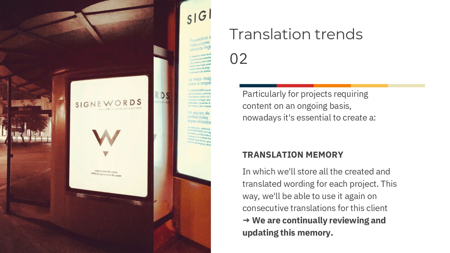 Translation trends 02 Nowadays, particularly fo...