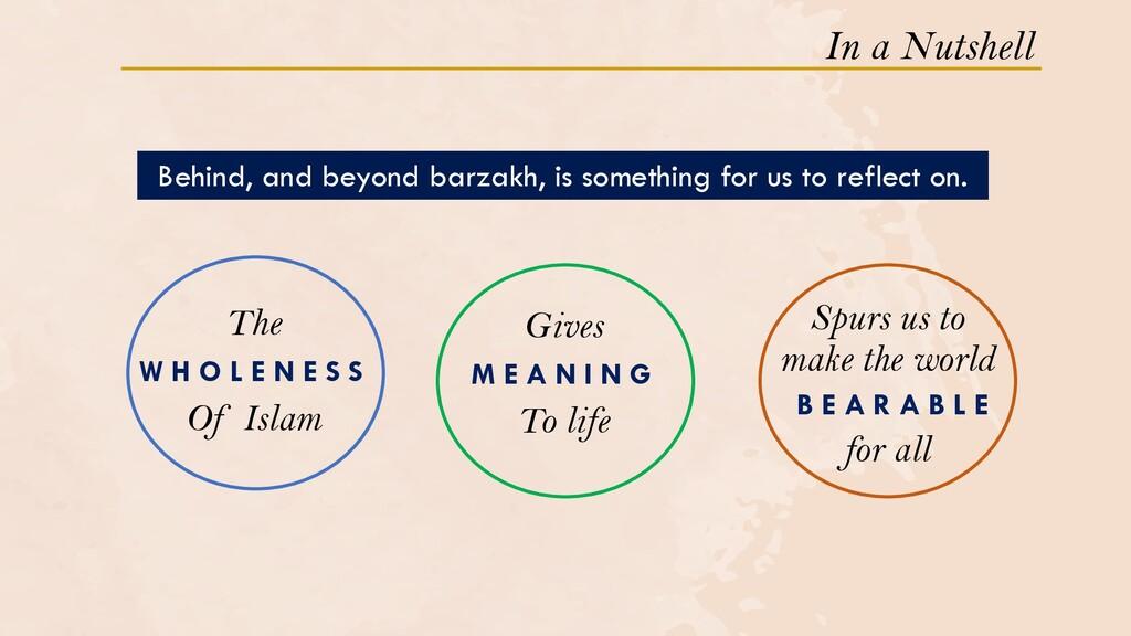 In a Nutshell W H O L E N E S S The Of Islam M ...