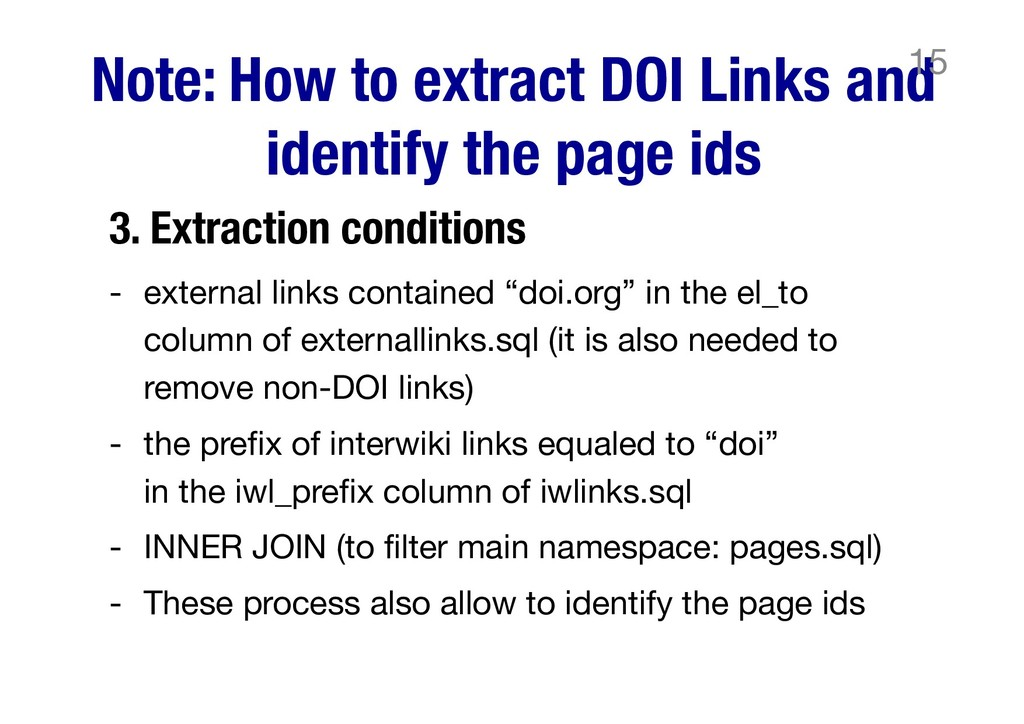 Note: How to extract DOI Links and identify the...