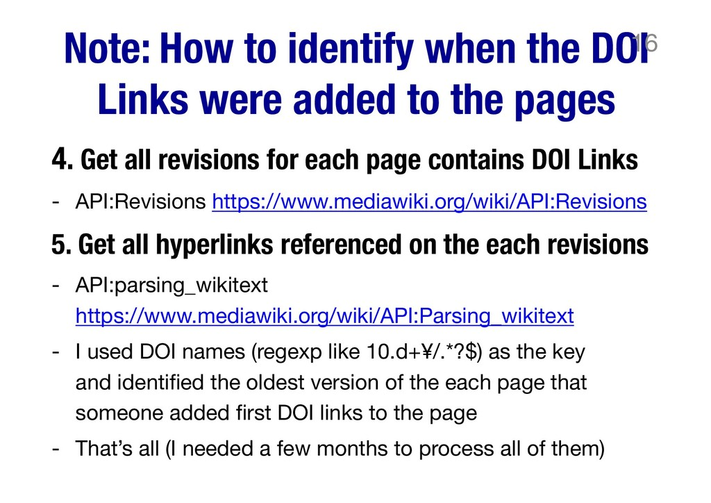 Note: How to identify when the DOI Links were a...