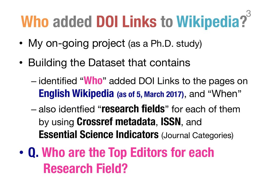 Who added DOI Links to Wikipedia? • My on-going...