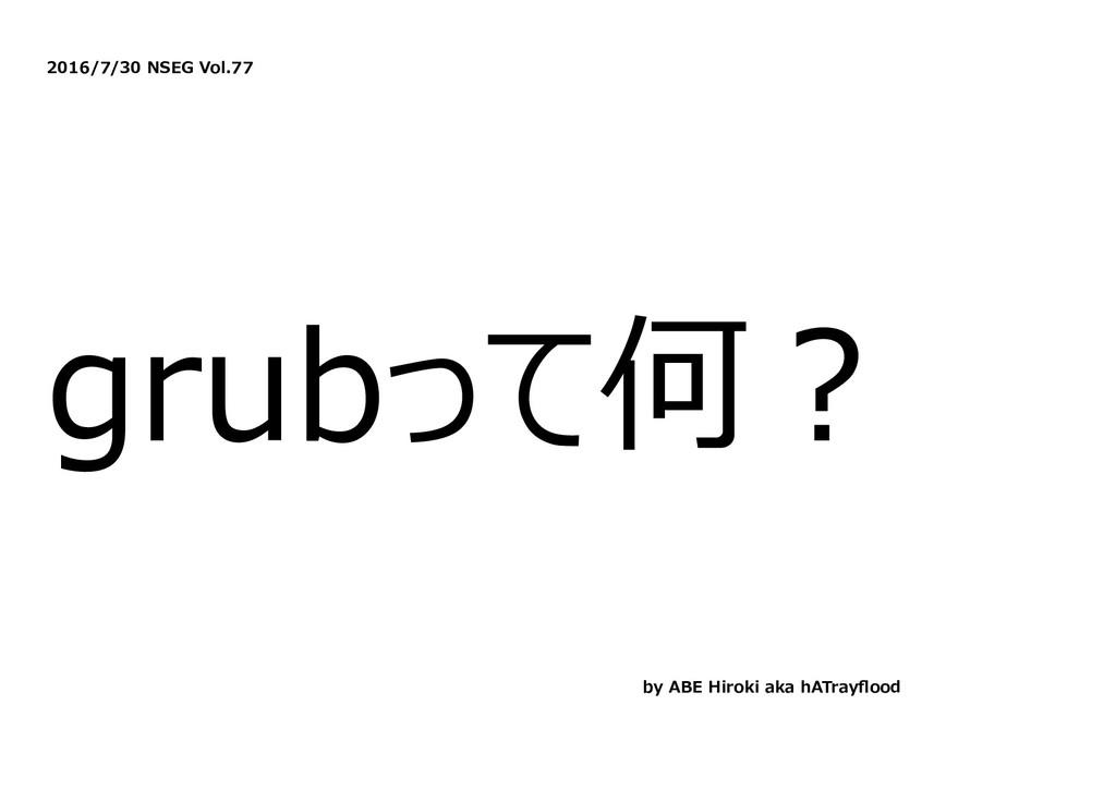 2016/7/30 NSEG Vol.77 grubって何︖ by ABE Hiroki ak...