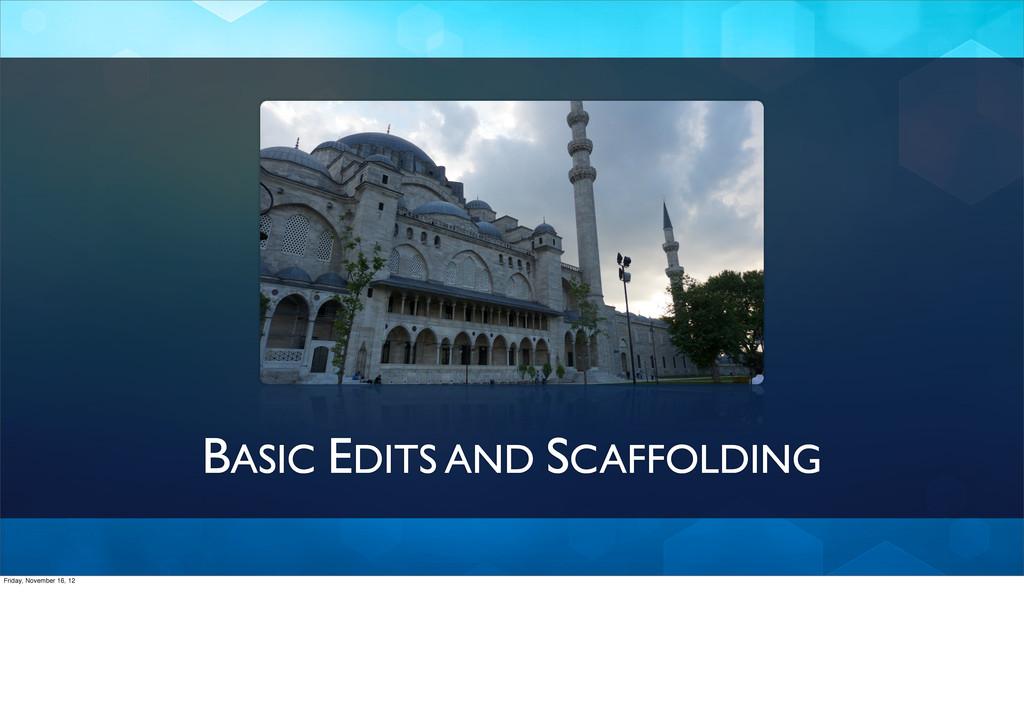 BASIC EDITS AND SCAFFOLDING Friday, November 16...