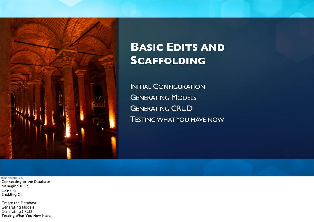 BASIC EDITS AND SCAFFOLDING INITIAL CONFIGURATI...