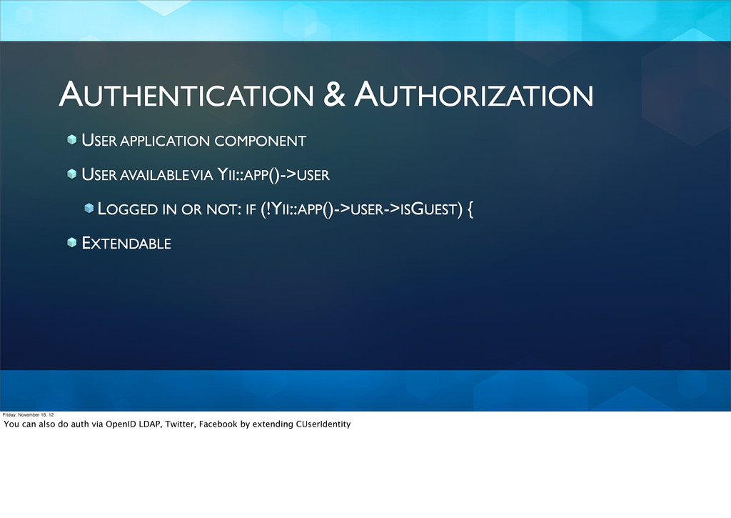 AUTHENTICATION & AUTHORIZATION USER APPLICATION...
