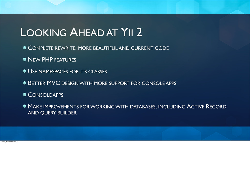 LOOKING AHEAD AT YII 2 COMPLETE REWRITE; MORE B...
