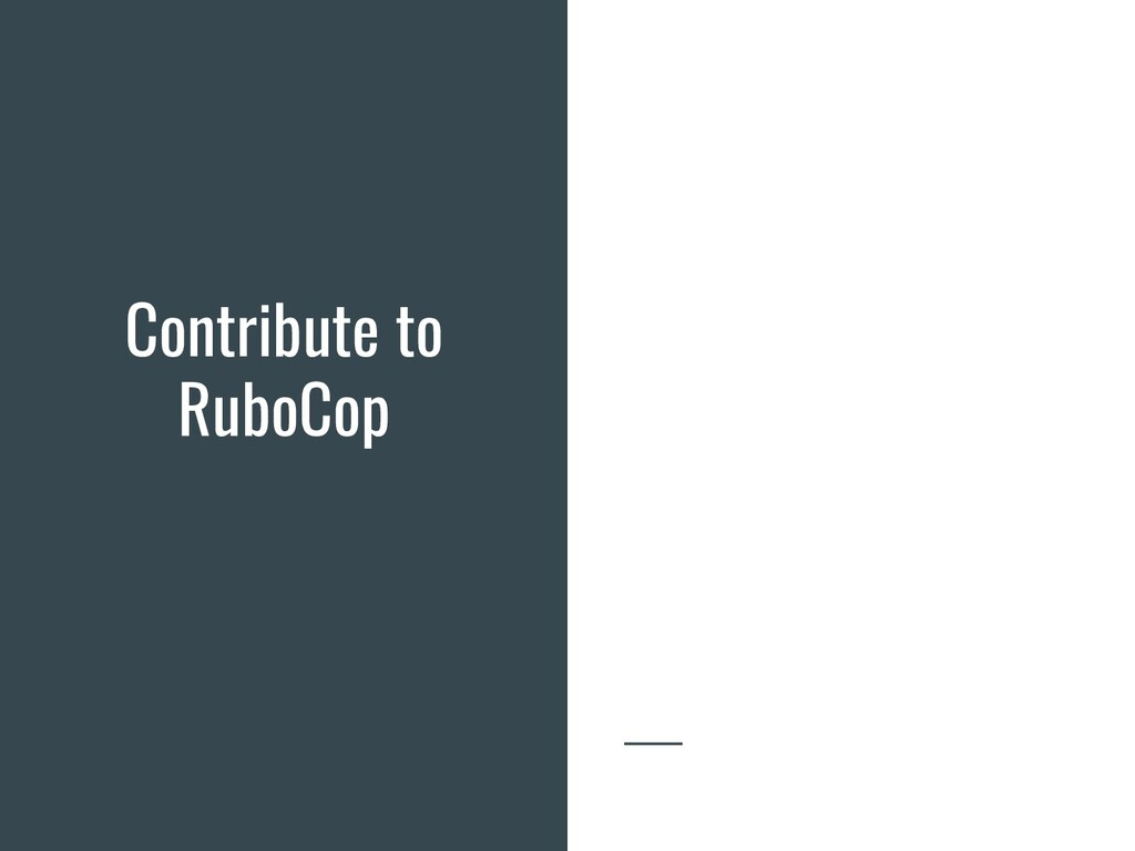 Contribute to RuboCop