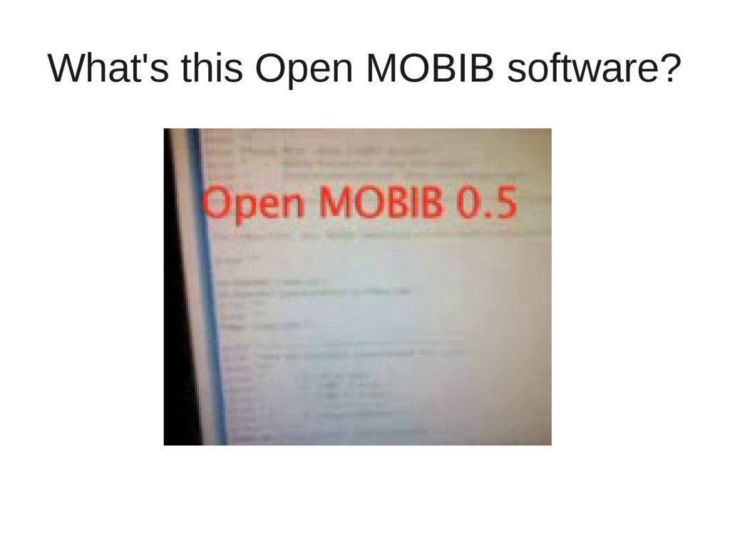 What's this Open MOBIB software?