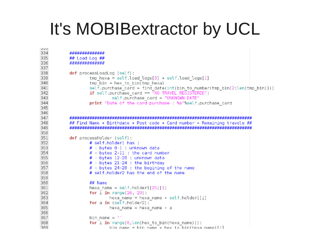 It's MOBIBextractor by UCL