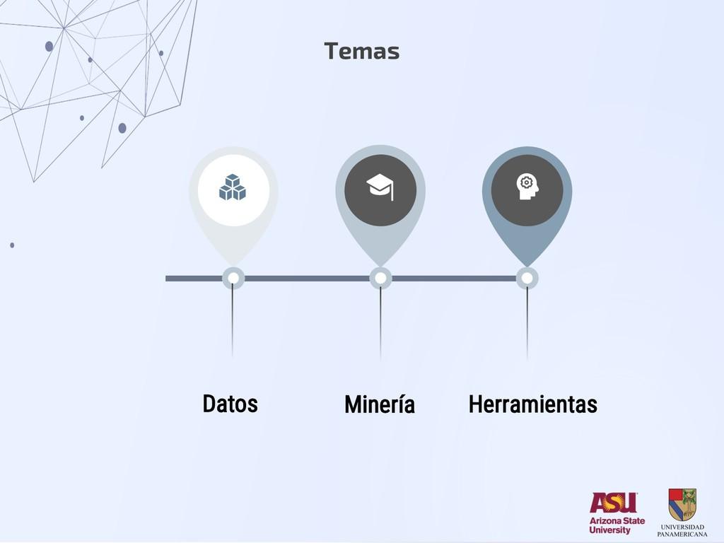 Temas Datos Herramientas Minería