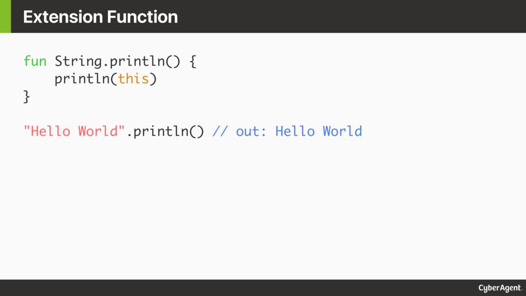 """fun String.println() { println(this) } """"Hello W..."""
