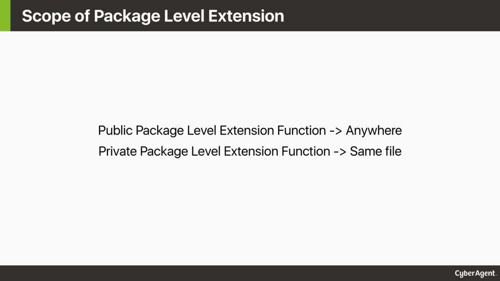 Scope of Package Level Extension Public Package...