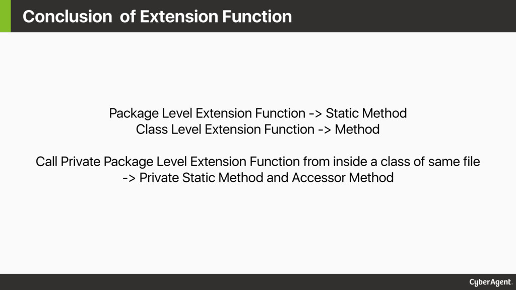 Conclusion of Extension Function Package Level ...