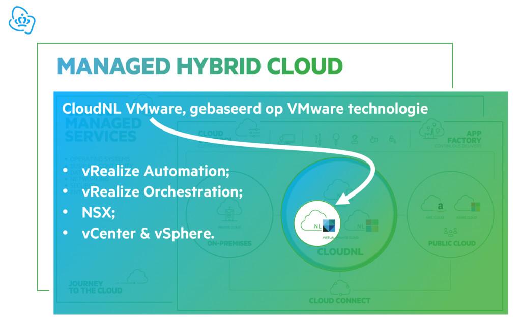 CloudNL VMware, gebaseerd op VMware technologie...