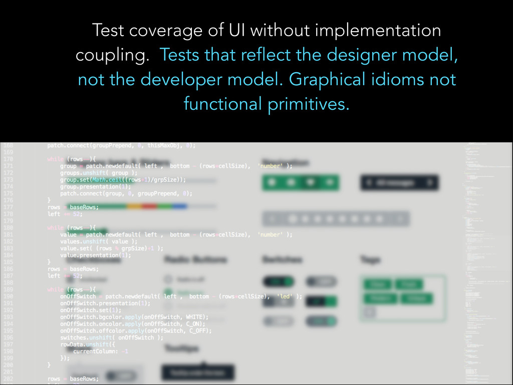 Test coverage of UI without implementation coup...