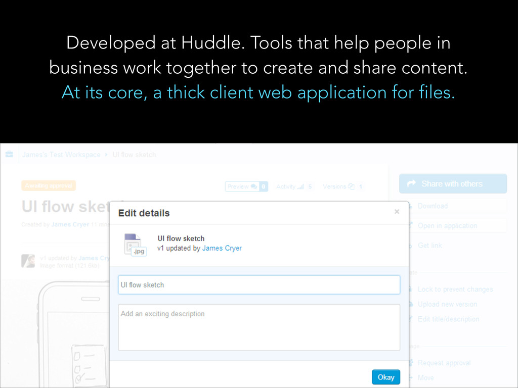 Developed at Huddle. Tools that help people in ...
