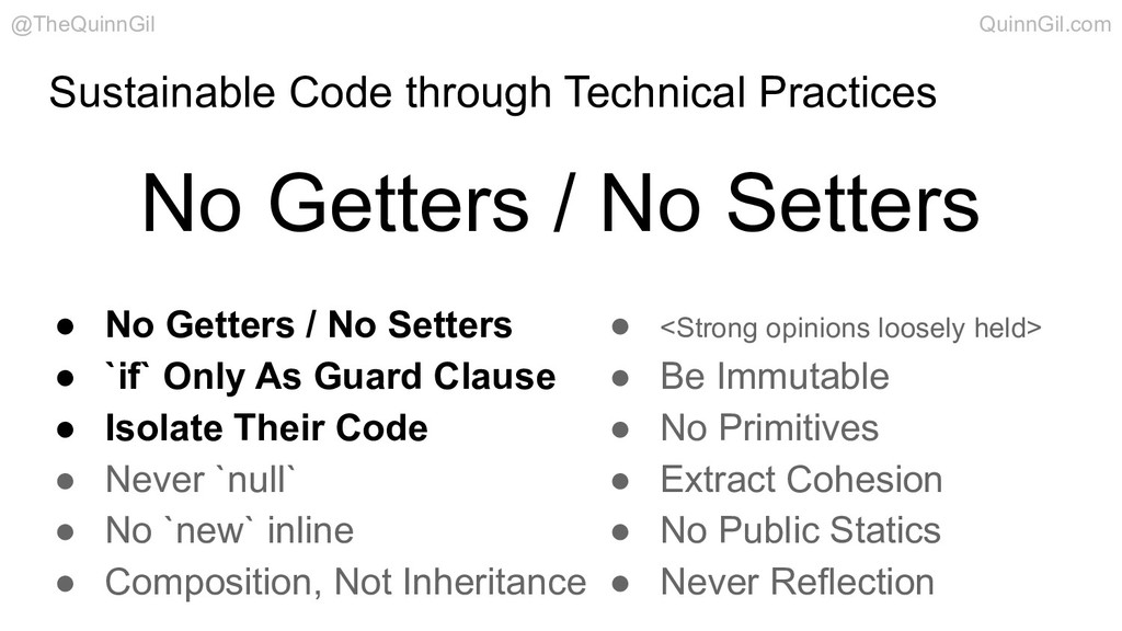 Sustainable Code through Technical Practices ● ...