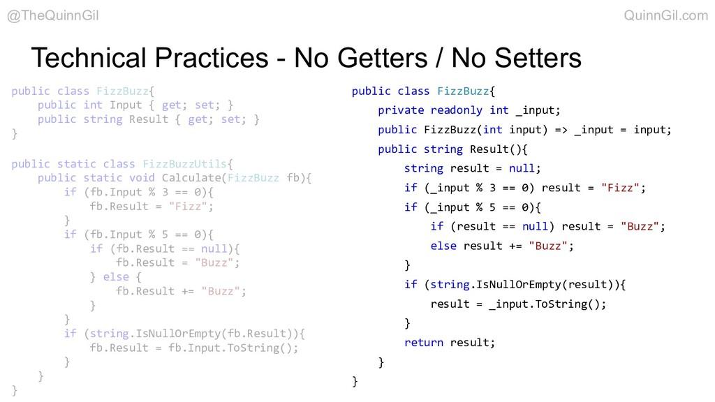 Technical Practices - No Getters / No Setters p...