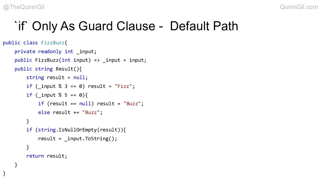 `if` Only As Guard Clause - Default Path public...