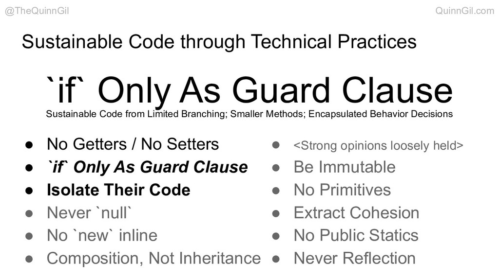 Sustainable Code through Technical Practices `i...