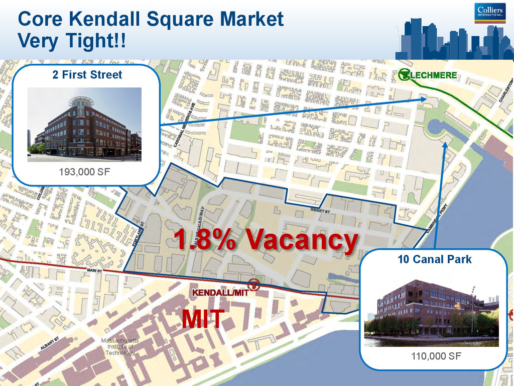 Core Kendall Square Market Very Tight!! 1.8% Va...
