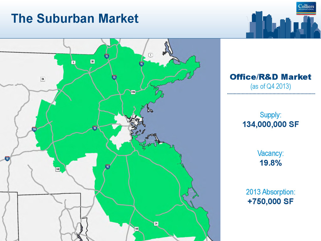 The Suburban Market Office/R&D Market (as of Q4...