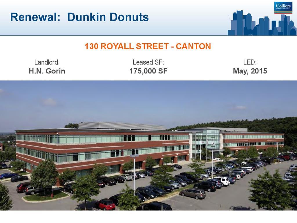 Renewal: Dunkin Donuts 130 ROYALL STREET - CANT...