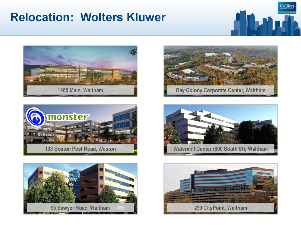 Relocation: Wolters Kluwer 1265 Main, Waltham B...