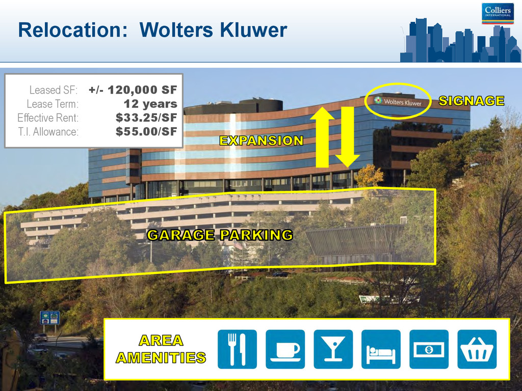 Relocation: Wolters Kluwer Leased SF: +/- 120,0...