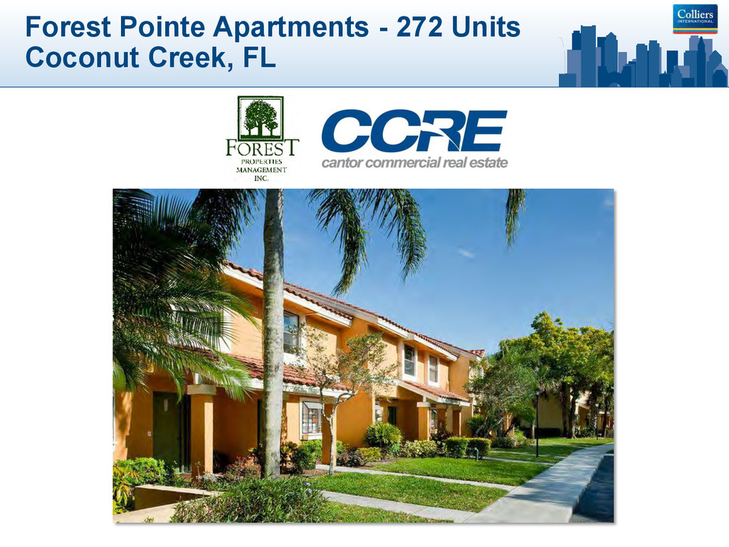 Forest Pointe Apartments - 272 Units Coconut Cr...