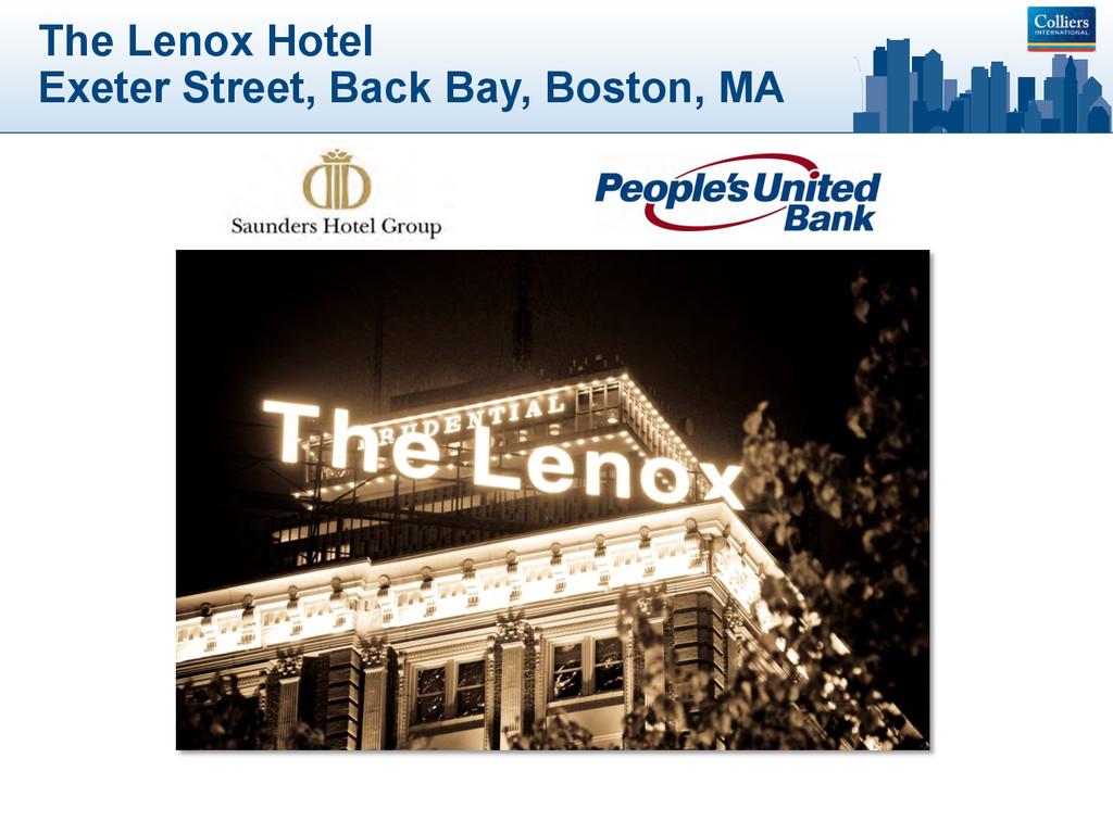 The Lenox Hotel Exeter Street, Back Bay, Boston...