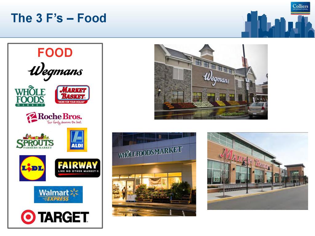 The 3 F's – Food FOOD