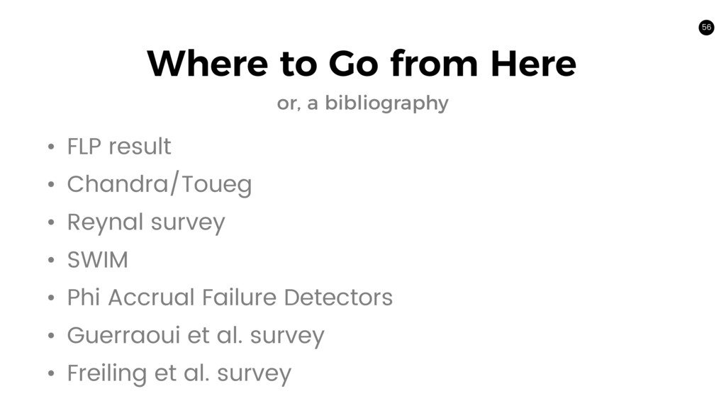 56 Where to Go from Here or, a bibliography • F...