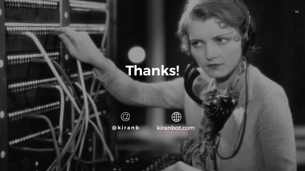 58 Thanks! @ k i r a n b kiranbot.com