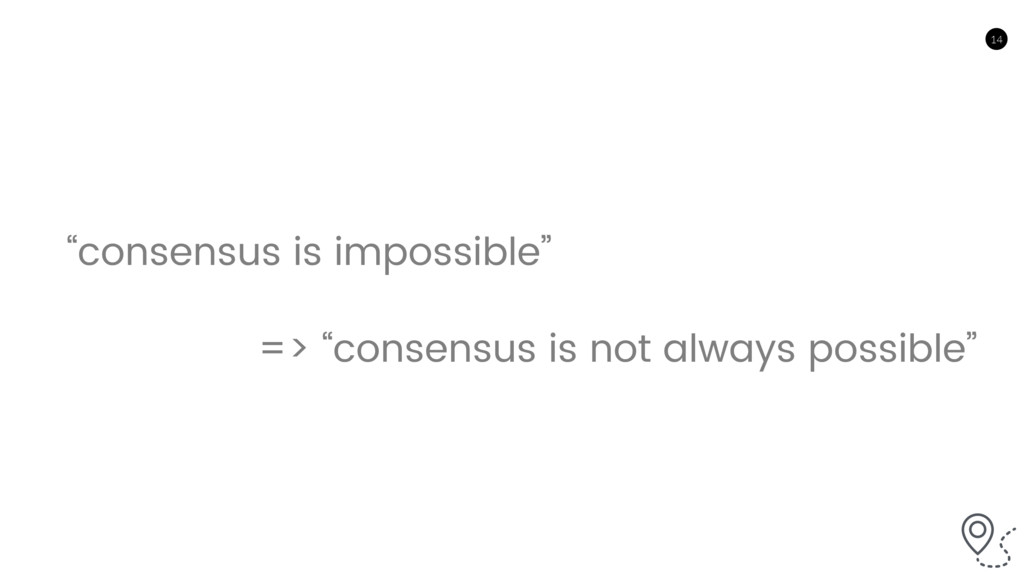 """14 """"consensus is impossible"""" => """"consensus is n..."""