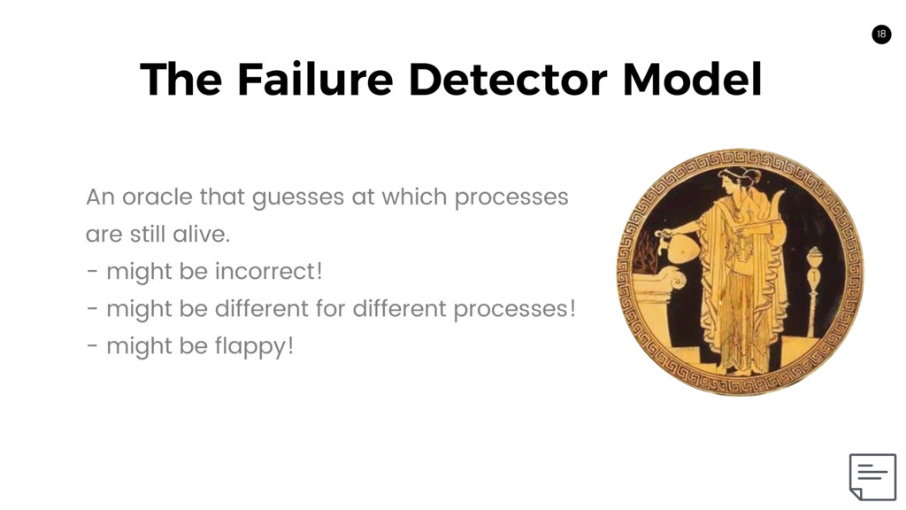18 The Failure Detector Model 18 An oracle that...