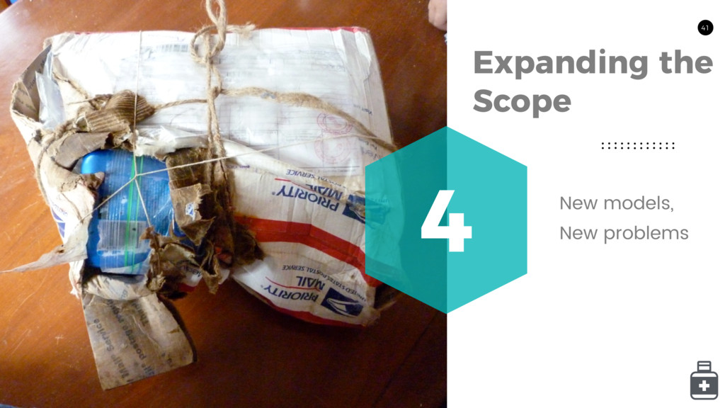 41 Expanding the Scope 4 New models, New proble...