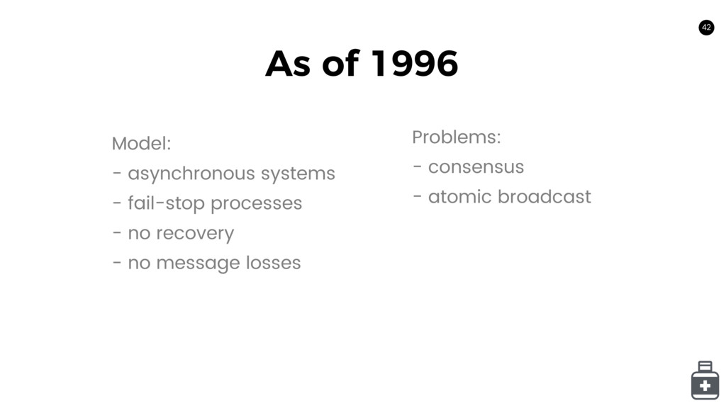 42 As of 1996 42 Model: - asynchronous systems ...